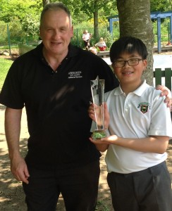 Glover Cup for caring was jointly won by Ainsely Li and Mr May