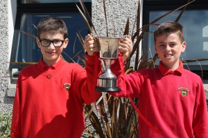 Winners of inter-house sports award is Edmond, cup collected by house captain Thomas Bourke and vice captain Peter Spiteri.